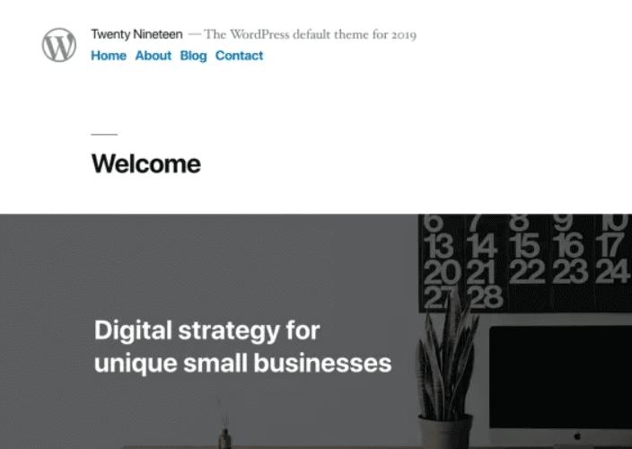 Twenty Nineteen WordPress Theme