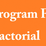 C program to find factorial
